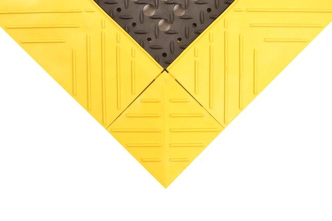 NOTRAX Diamond Flex-Lok Matting System YELLOW; 6 in. x 12 in.; Corner piece:Gloves,