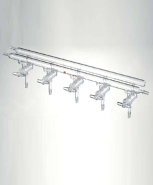 SynthwareVacuum and Inert Gas Manifold with Solid Glass Stopcocks, Front