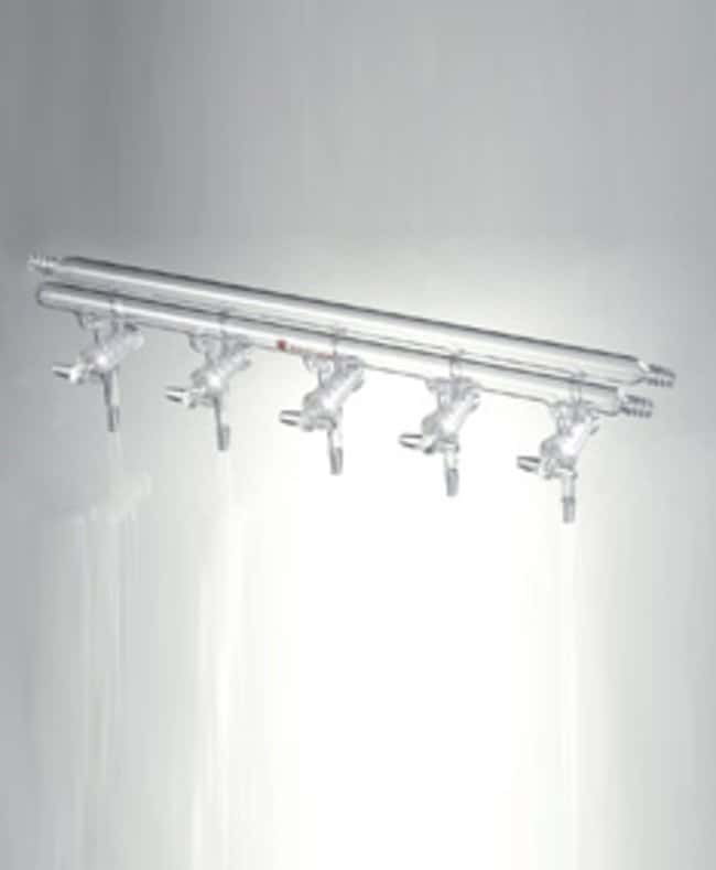 SynthwareVacuum and Inert Gas Manifold with Hollow Glass Stopcocks, Front