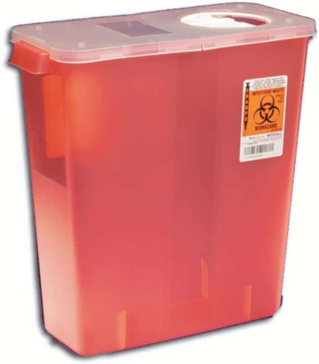 Covidien SharpSafety Universal Waste Containers Capacity: 2 gal. (7.57L):Gloves,