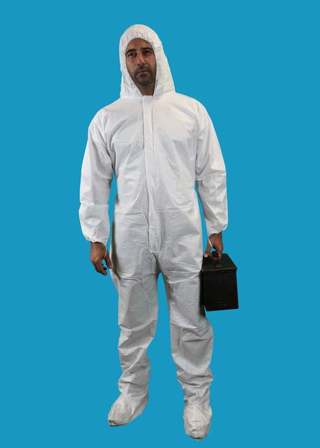 Keystone KEYGUARD Microporous Coveralls Elastic wrists, Attached hood and