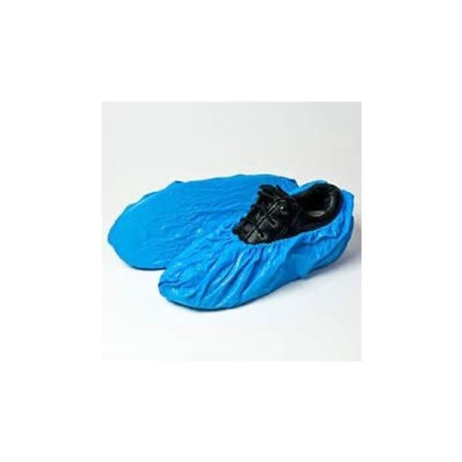 Keystone Super Sticky Polypropylene Shoe Cover Color: Blue; Size: Medium:Gloves,