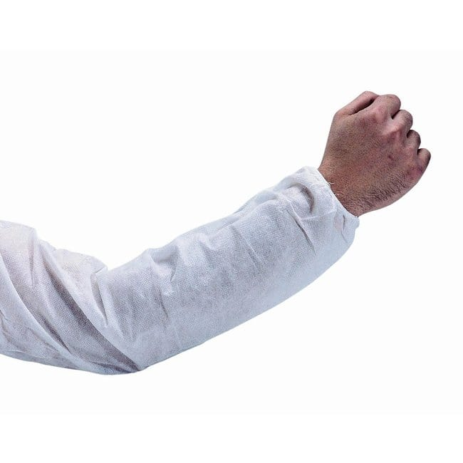 Keystone Polypropylene Arm Sleevess Polypropylene; White; Large:Gloves,