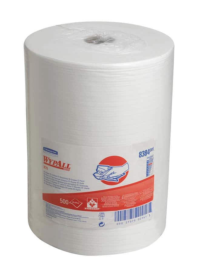 Kimberly-Clark™ Paño blanco Wypall X70 Dimensions (L x W): 380 x 420mm; Packaging Quantity: 70 pack Kimberly-Clark™ Paño blanco Wypall X70