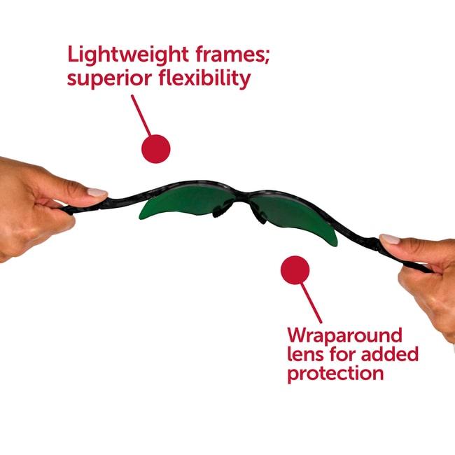 Kimberly-Clark Professional™KleenGuard™ Nemesis™ Safety Glasses Frame color: Black; Lens tint: IR/UV 3.0 Kimberly-Clark Professional™KleenGuard™ Nemesis™ Safety Glasses