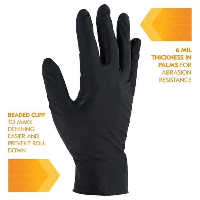 Kimberly-Clark Professional KleenGuard Kraken Grip Black Nitrile Glove
