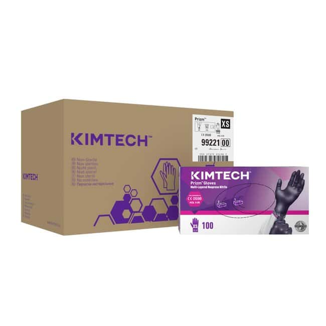 Kimberly-Clark™ Guanti Prizm in neoprene nitrile multistrato, 24 cm, Ambidestri, viola scuro/magenta scuro: Chemical Resistant Gloves Chemical, Temperature, and Cut Resistant Gloves