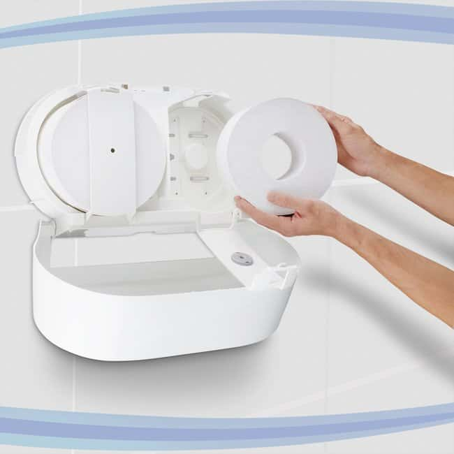 Kimberly-Clark™Toilet Tissue Dispenser - Jumbo Centrefeed Roll White Kimberly-Clark™Toilet Tissue Dispenser - Jumbo Centrefeed Roll