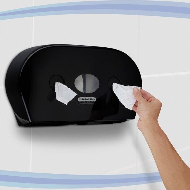Kimberly-Clark™Toilet Tissue Dispenser - Jumbo Centrefeed Roll Black Kimberly-Clark™Toilet Tissue Dispenser - Jumbo Centrefeed Roll