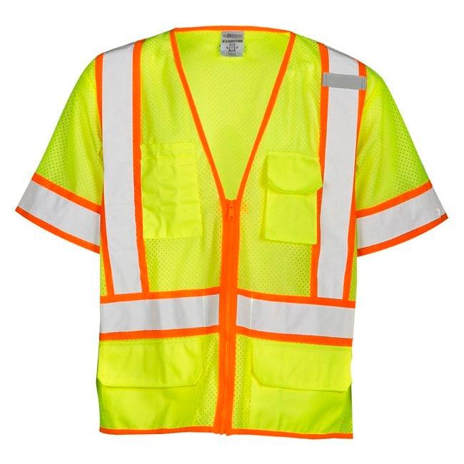 Kishigo Six Pocket Contrast Vest Size: 2X; Chest Size: 132 to 137cm; Length: