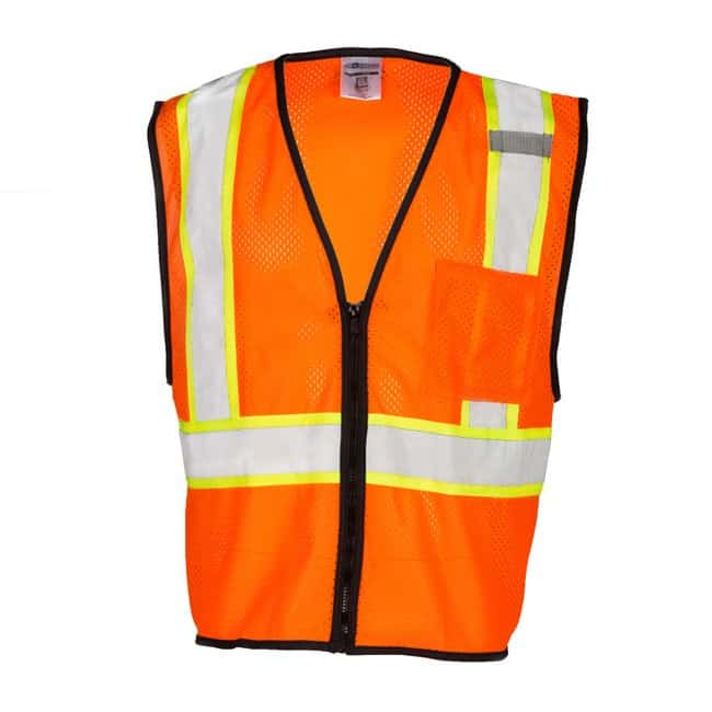 Kishigo Single Pocket Contrasting Mesh Vest Size: Large to X- Large; Color: