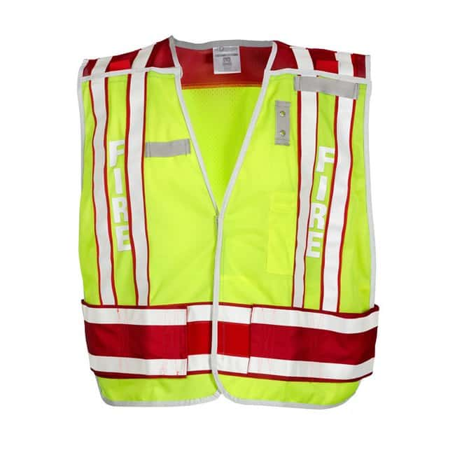 Kishigo Premium Brilliant Series Fire Vest M-XL; Lime/ Red:Gloves, Glasses
