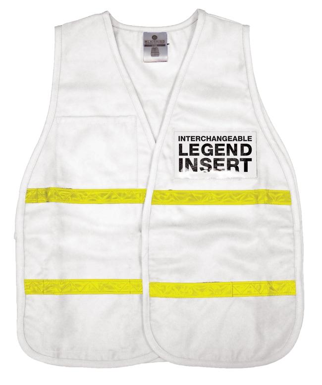 ML Kishigo 3700 Series Incident Command Vest White:Gloves, Glasses and