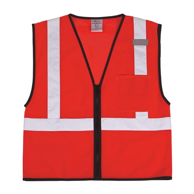 ML Kishigo Single Pocket Zipper Mesh Vest 4X-5X:Gloves, Glasses and Safety