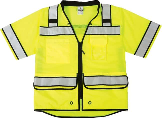 ML Kishigo High Performance Surveyors Vest Lime, 2X:Gloves, Glasses and