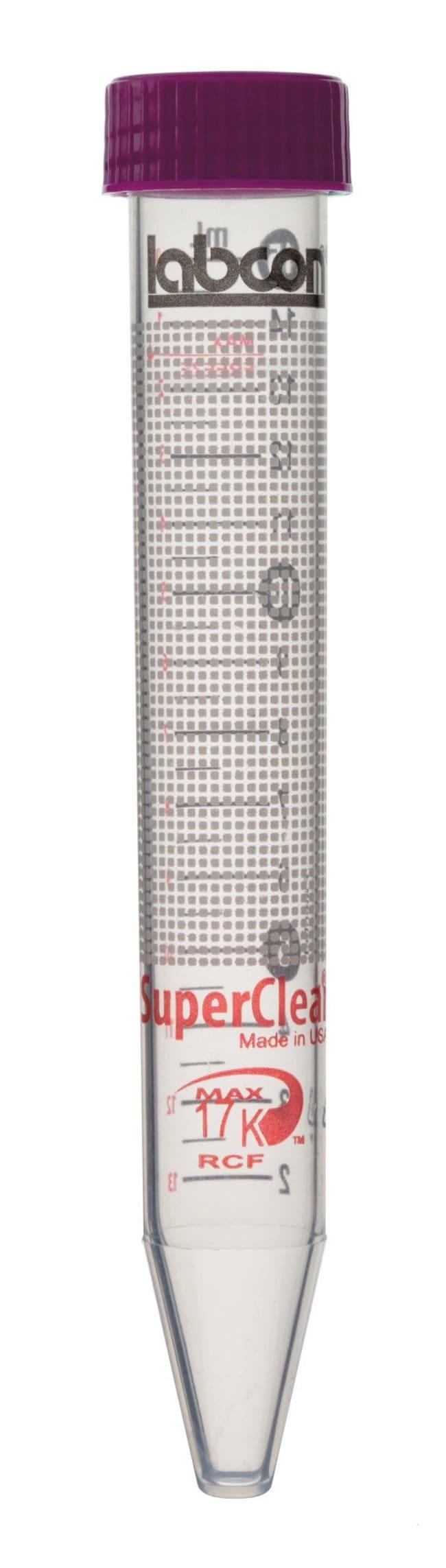 LabconTubes à centrifuger SuperClear™ de 15ml Bouchon à insérer; 500tubes/sachet; non stérile LabconTubes à centrifuger SuperClear™ de 15ml
