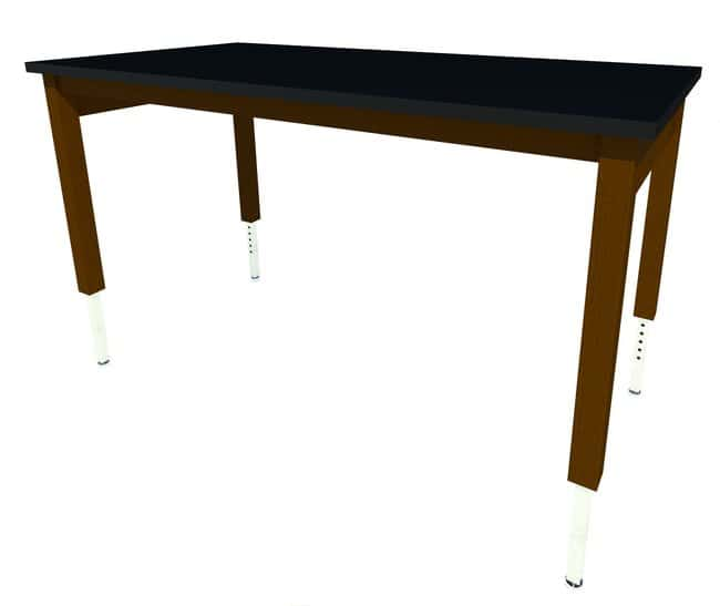 FisherbrandWood Adjustable Height Table, 48 in. Wide, Black Phenolic Work