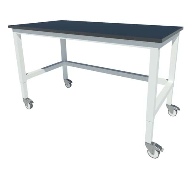 Fisherbrand™ Adjustable Height Heavy Duty Steel Table With Phenolic Work  Surface And Swivel Casters