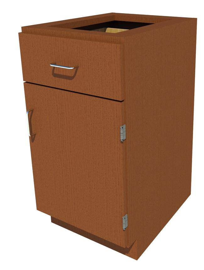 FisherbrandStanding Height Wood Cabinet, 18 in. Wide 1 Door 1 Drawer, 18
