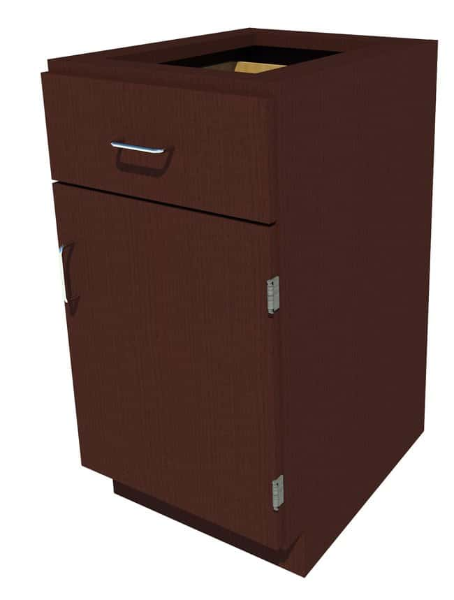 FisherbrandStanding Height Wood Cabinet, 18 in. Wide 1 Door 1 Drawer, 18