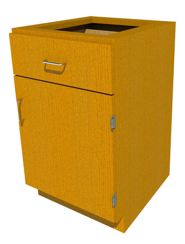 FisherbrandStanding Height Wood Cabinet, 21 in. Wide 1 Door 1 Drawer, 21