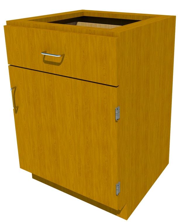 FisherbrandStanding Height Wood Cabinet, 24 in. Wide 1 Door 1 Drawer, 24