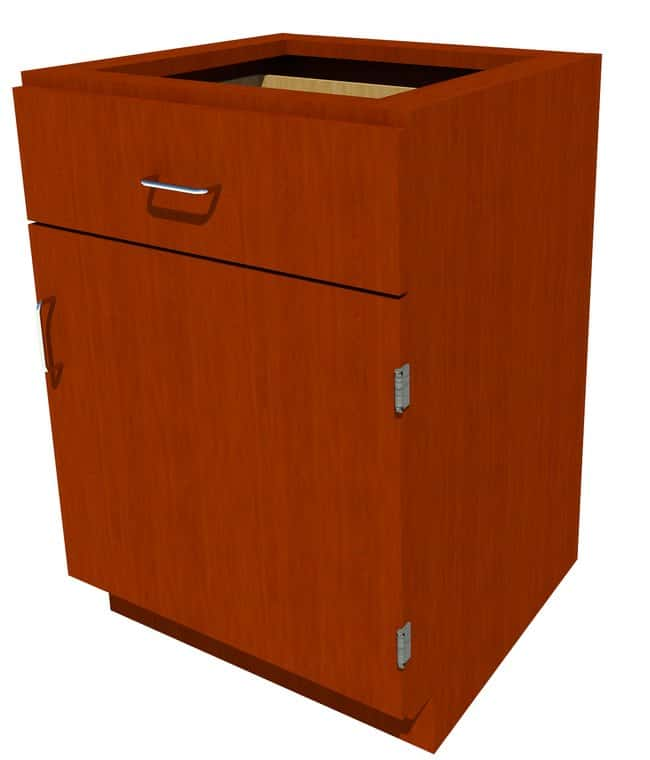 Fisherbrand Standing Height Wood Cabinet, 24 in. Wide 1 Door 1 Drawer,