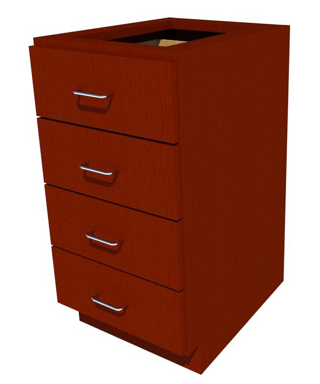 FisherbrandStanding Height Wood Cabinet, 18 in. Wide 4 Drawer, 18 in. Wide,