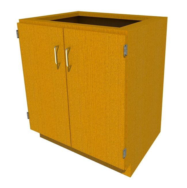 Fisherbrand Standing Height Wood Cabinet, 30 in. Wide 2 Door, 30 in. Wide,