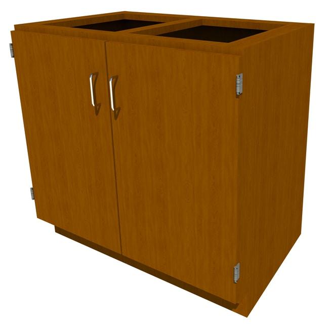 FisherbrandStanding Height Wood Cabinet, 36 in. Wide 2 Door, 36 in. Wide,