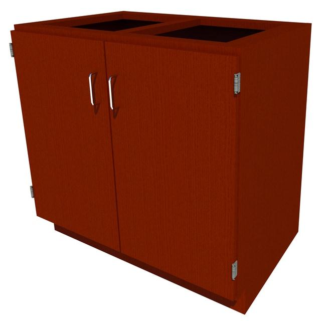 Fisherbrand Standing Height Wood Cabinet, 36 in. Wide 2 Door, 36 in. Wide,