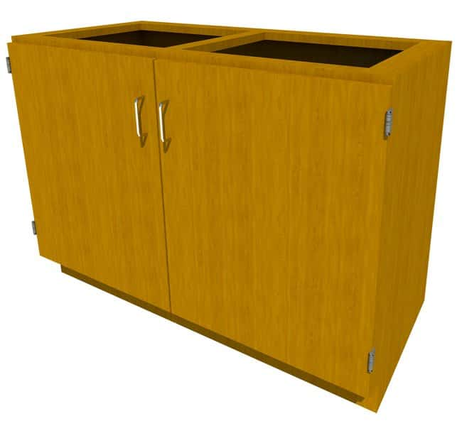 FisherbrandStanding Height Wood Cabinet, 48 in. Wide 2 Door, 48 in. Wide,