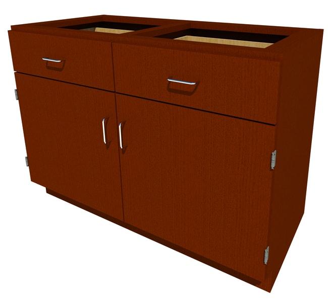 FisherbrandStanding Height Wood Cabinet, 48 in. Wide 2 Door 2 Drawer, 48