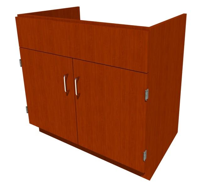 FisherbrandStanding Height Wood Sink Cabinet, 36 in. Wide 2 Door, 36 in.