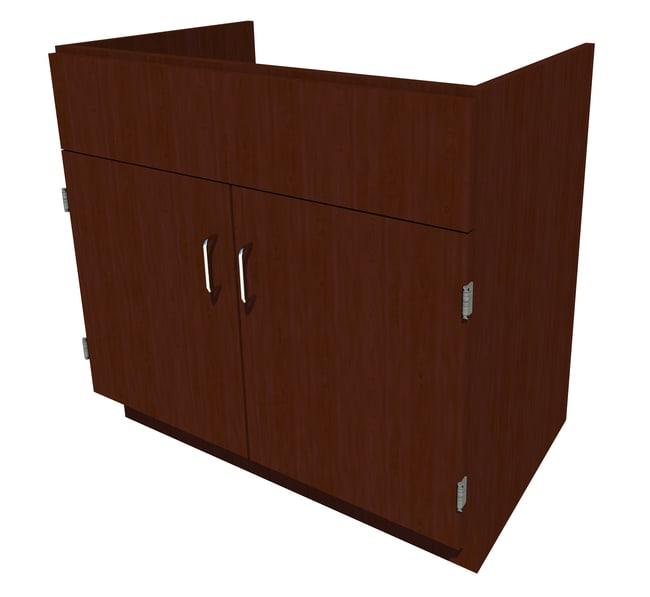Fisherbrand Standing Height Wood Sink Cabinet, 36 in. Wide 2 Door, 36 in.