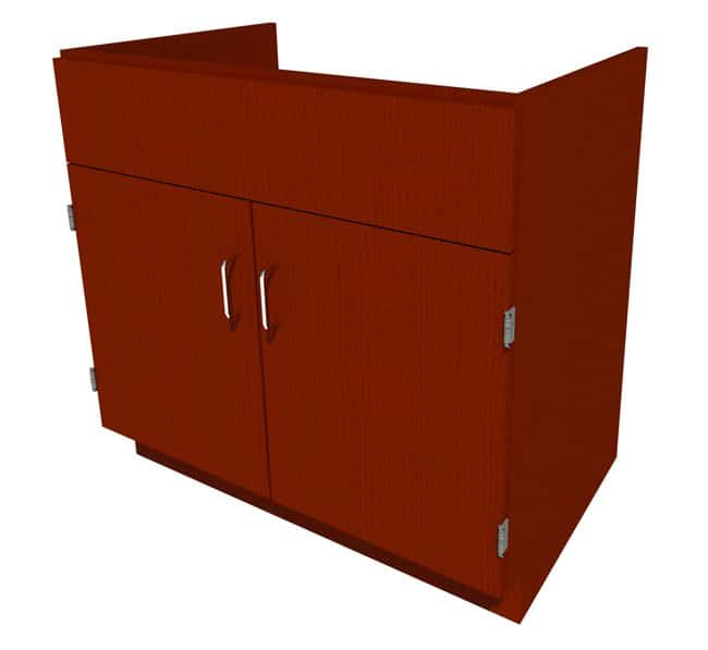 FisherbrandStanding Height Wood Sink Cabinet, 36 in. Wide 2 Door, 36 in.