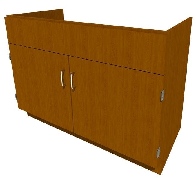 FisherbrandStanding Height Wood Sink Cabinet, 48 in. Wide 2 Door, 48 in.