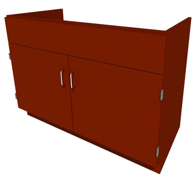 Fisherbrand Standing Height Wood Sink Cabinet, 48 in. Wide 2 Door, 48 in.