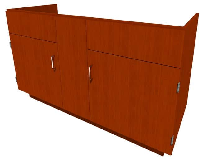 Fisherbrand Standing Height Wood Sink Cabinet 2 Door, 58.25 in. Wide, Maple,
