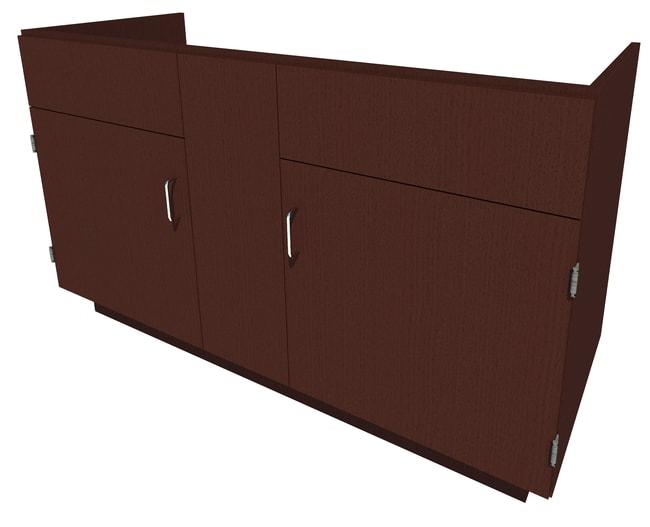 FisherbrandStanding Height Wood Sink Cabinet 2 Door, 58.25 in. Wide, Oak,