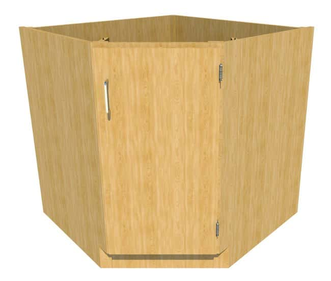 FisherbrandStanding Height Wood Corner/Sink Cabinet 1 Door, 34.25 in. Wide,
