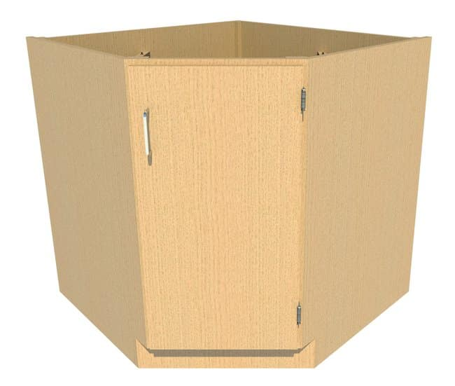Fisherbrand Standing Height Wood Corner/Sink Cabinet 1 Door, 34.25 in.