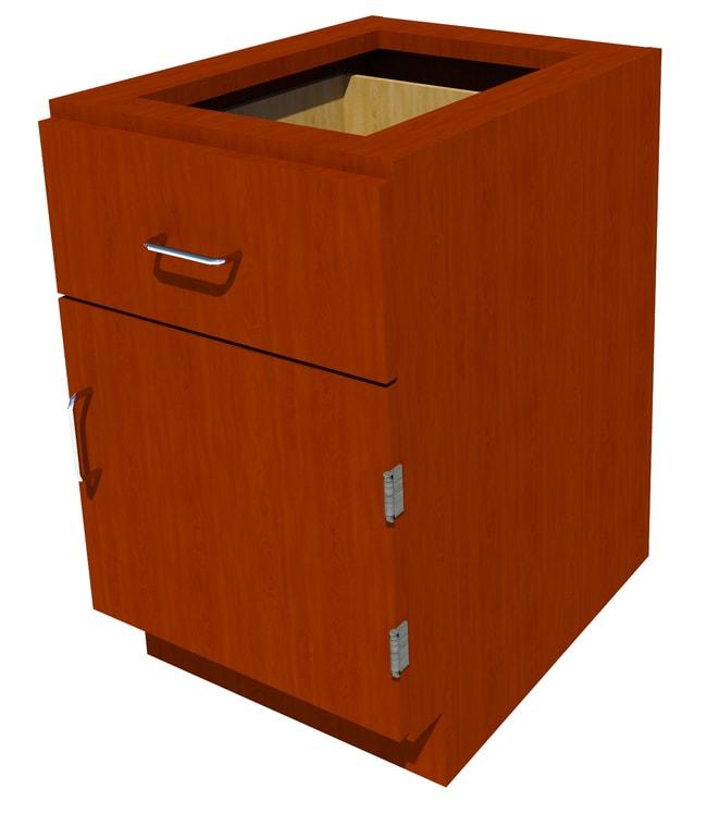 Fisherbrand Sitting Height Wood Cabinet 1 Door 1  Drawer, 18 in. Wide,