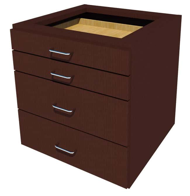 Fisherbrand Suspended Wood Cabinet, 24 in. Wide 4 Drawer, 24 in. Wide,