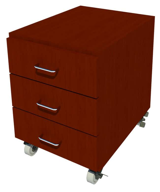 FisherbrandMobile Wood Cabinet, 18 in. Wide 3 Drawer, 18 in. Wide, Maple,
