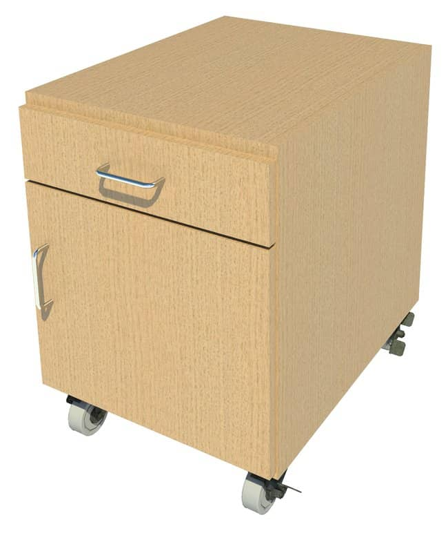 FisherbrandMobile Wood Cabinet, 18 in. Wide:Furniture:Storage Cabinets