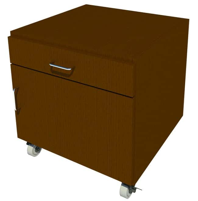 Fisherbrand Mobile Wood Cabinet, 24 in. Wide:Furniture, Storage, Casework,