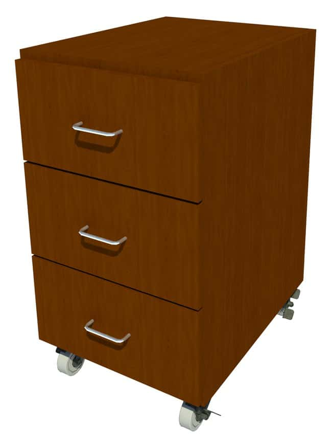 FisherbrandMobile Wood Cabinet, 18 in. Wide 3 Drawer, 18 in. Wide, Maple,