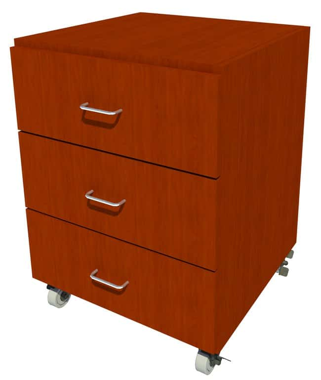 FisherbrandMobile Wood Cabinet, 24 in. Wide 3 Drawer, 24 in. Wide, Maple,