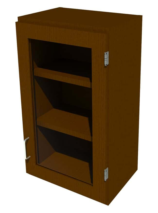 FisherbrandWood Wall Cabinet, 18 in. Wide 1 Framed Glass Door Right Hinged,